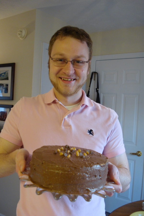 Ben with his cake.