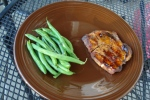 sweet mustard glazed pork chops | thepajamachef.com
