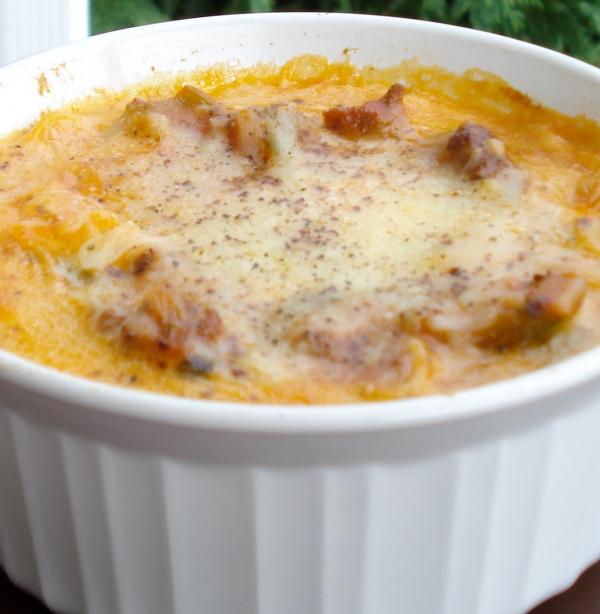 Creamy Baked Spaghetti | thepajamachef.com