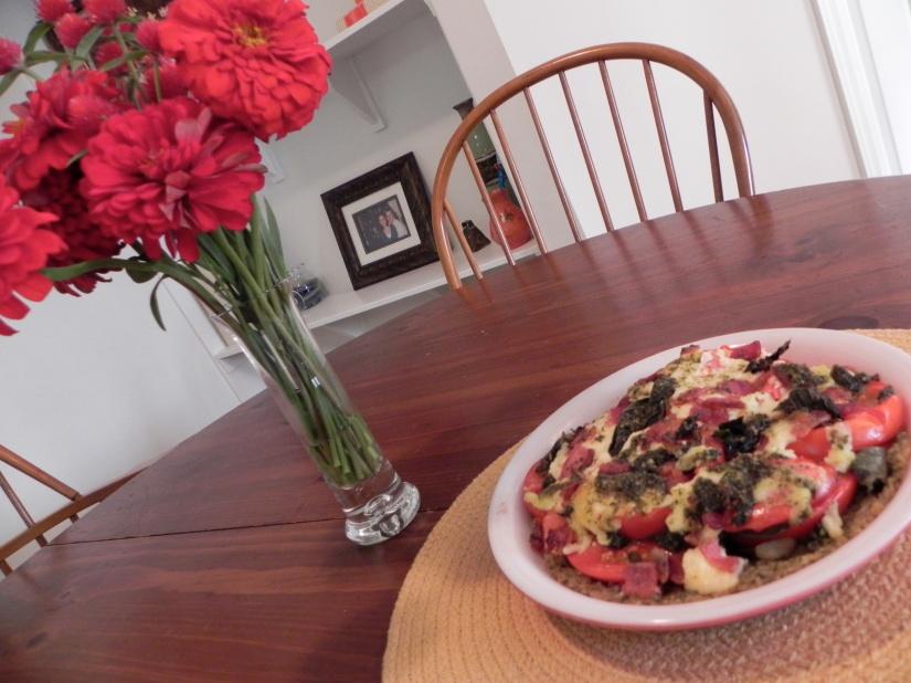 Tomato Pie via thepajamachef.com // a celebration of summer