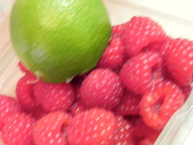 Lime Yogurt Cake with Raspberry Sauce