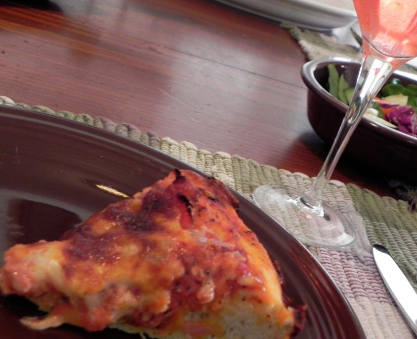 cornmeal pizza dough in the breadmaker | thepajamachef.com