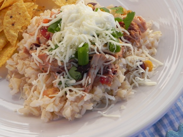 Crock Pot Santa Fe Chicken - a guaranteed family favorite! via thepajamachef.com