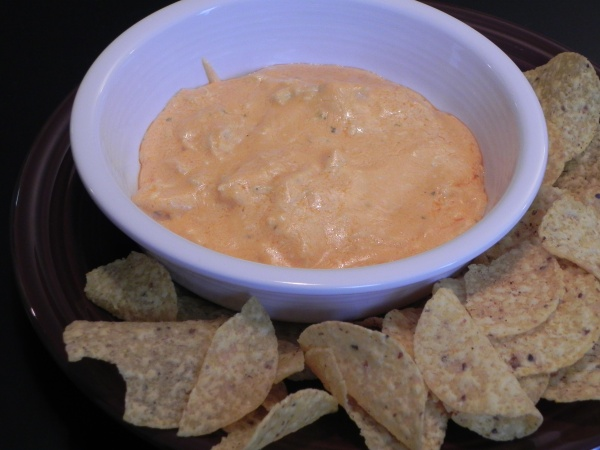 The chips, eager to bathe in the incarnate awesomeness, surround the bowl in dipping formation.