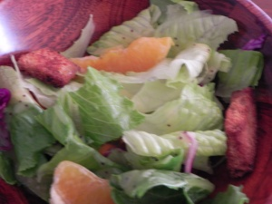 Salad to serve with Citrus Tilapia | thepajamachef.com