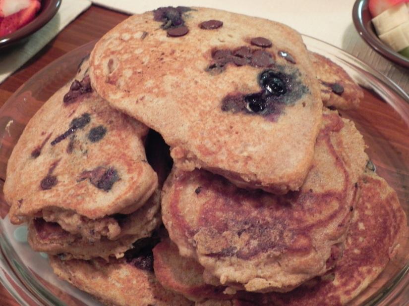 Whole Wheat Pancakes via thepajamachef.com