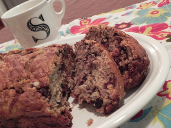 Rebel Banana Bread... chocolate + coconut added to your favorite banana bread! Yum!