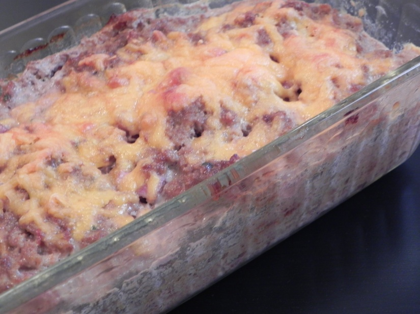 Onion-less salsa meatloaf to please even the pickiest eaters!