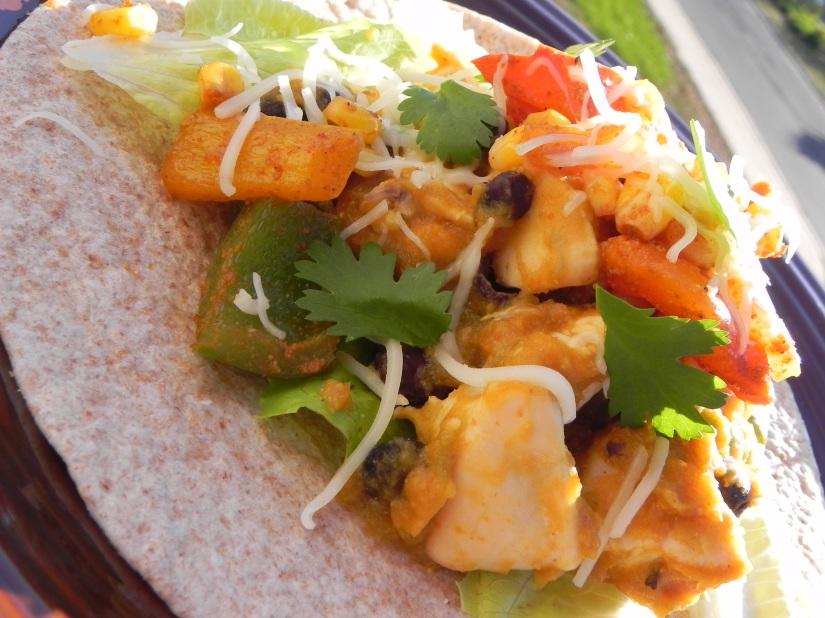 pumpkin chicken tacos... spicy & delicious