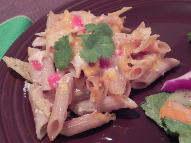 Southwestern Pepperjack Baked Penne... spicy, cheesy, gooey pasta!