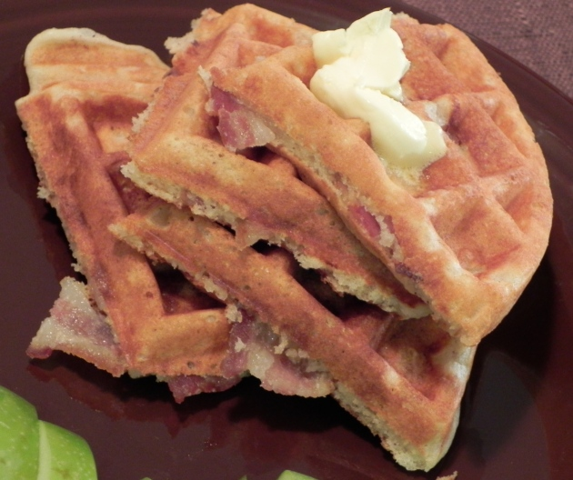 Brown Sugar Bacon Waffles... because why should you have to choose between bacon and waffles?!