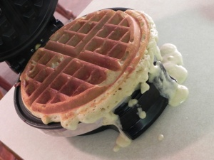 overflowing waffle