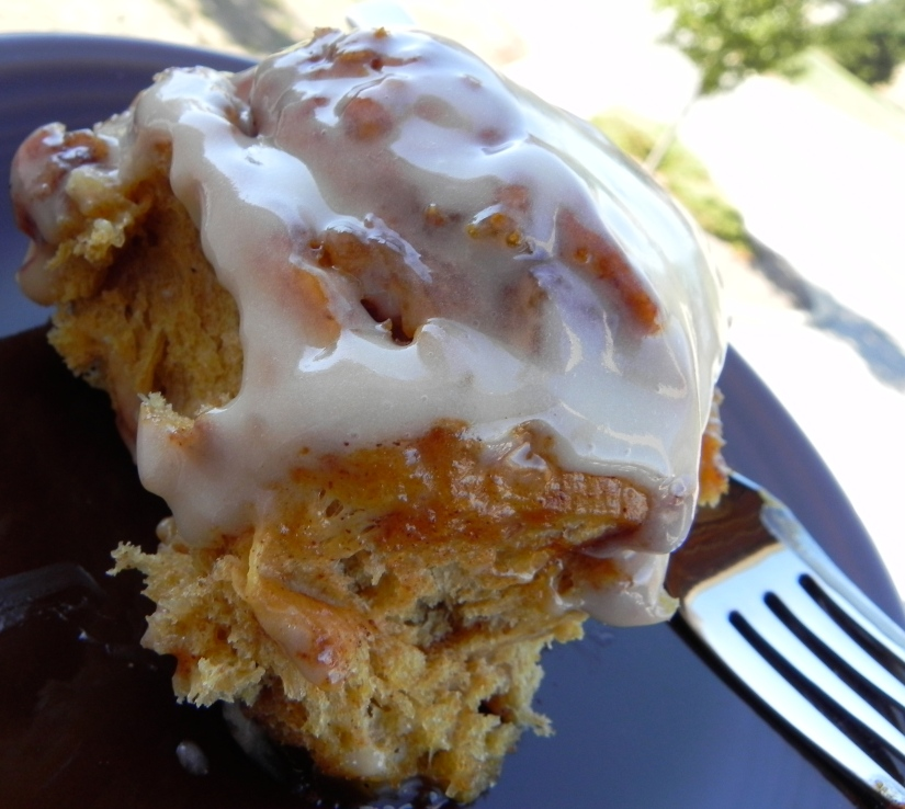 Pumpkin Cinnamon Rolls - they are pumpkin-y and cinnamon-y and sweet to an extreme. Recipe on The Pajama Chef!