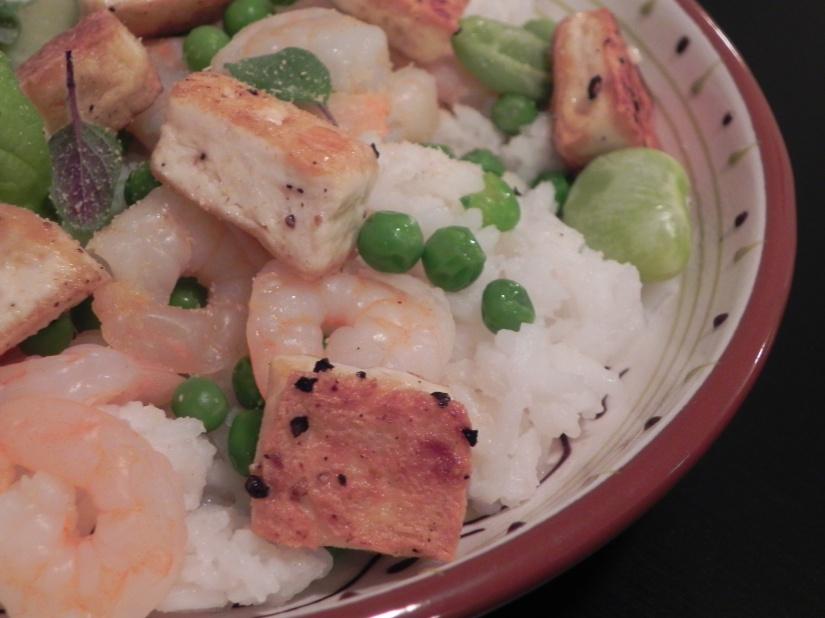 Tofu Shrimp Bowls