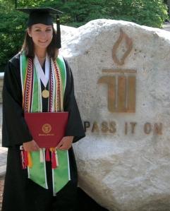 Sarah at graduation