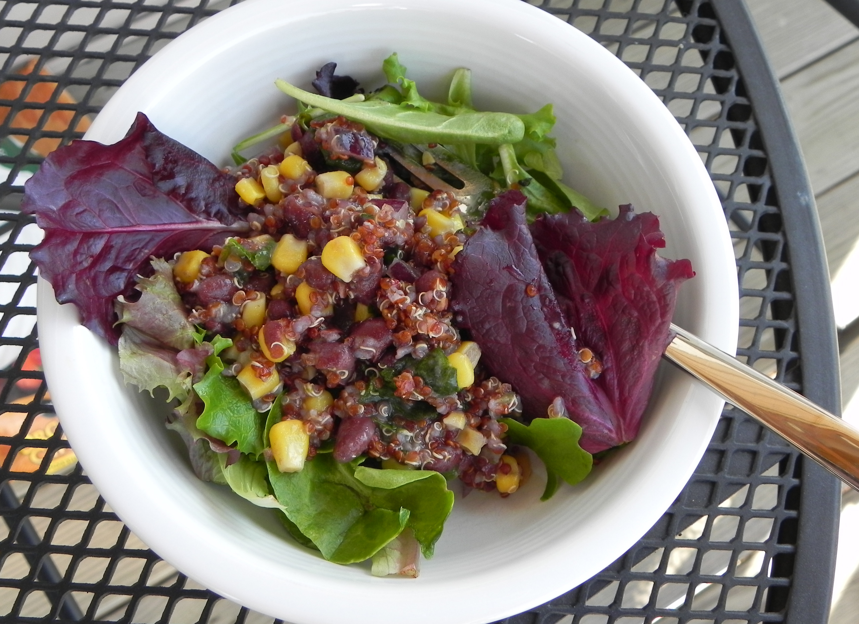 Black Bean & Corn Quinoa Salad | The Pajama Chef