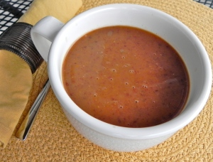 Roasted Tomato and Black Bean Soup