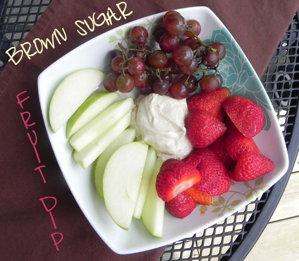 Brown Sugar Fruit Dip | thepajamachef.com