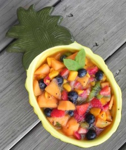 Honey Lime Fruit Salad | thepajamachef.com