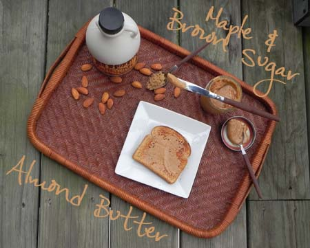 Homemade Maple & Brown Sugar Almond Butter - easier than you think... and tasty too! via thepajamachef.com