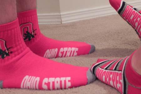buckeyes socks