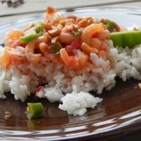 Thai Seared Shrimp with Tomato, Basil, and Coconut