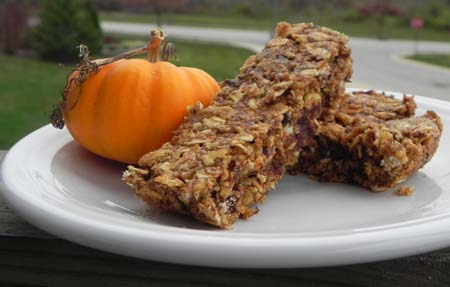pumpkin chocolate chip energy bars