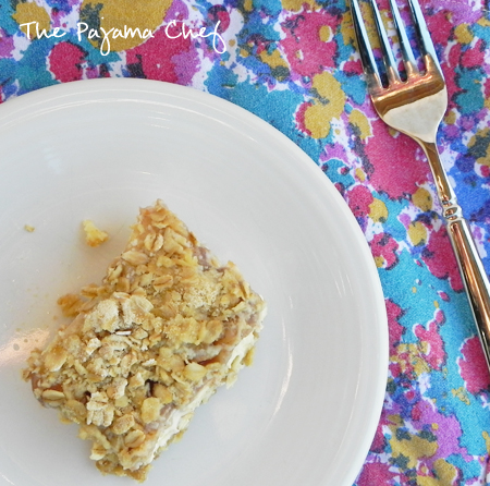 Apple Streusel Cheesecake Bars - an incredible fusion dessert in one easy to make bar cookie recipe! via thepajamachef.com