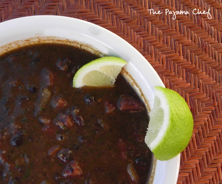 Black Bean Soup Like You MeanIt - this black bean soup is the perfect blend of spices, lime, and garlic. Everyone will love it!