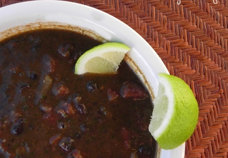 Black Bean Soup Like You Mean It - this black bean soup is the perfect blend of spices, lime, and garlic. Everyone will love it!