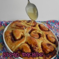 Bread Machine Cinnamon Rolls with Maple Icing