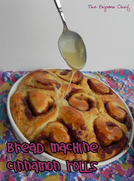 Bread Machine Cinnamon Rolls with Maple Icing | thepajamachef.com