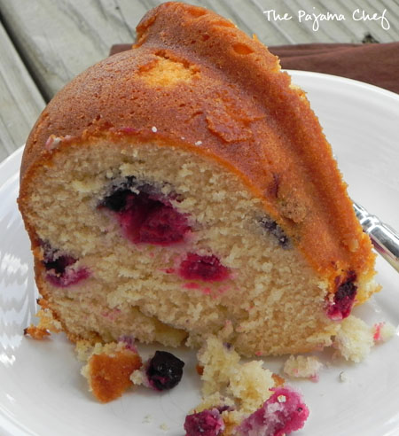 royal berry coffee cake | thepajamachef.com