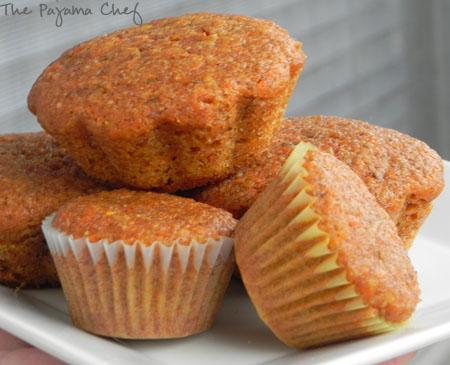 cinnamon carrot muffins | thepajamachef.com