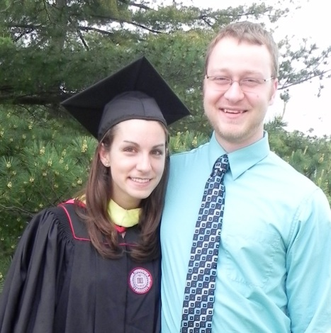 Sarah and Ben at her master's graduation, 2012