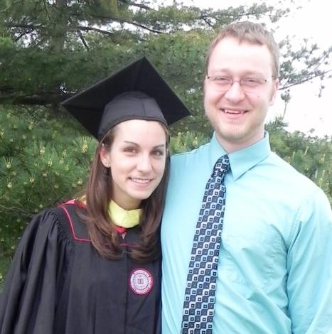 Sarah and Ben at her master's graduation, 2012