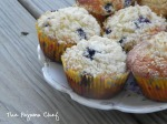 Grandma's Blueberry Muffins - a perfect way to enjoy fresh bluberries...with a crumb topping that can't be beat! via thepajamachef.com