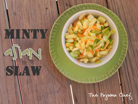 This isn't just your average cole slaw... it's Minty Asian Slaw!