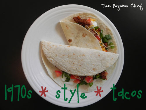 1970s style tacos - an easy way to get your taco fix using pantry ingredients when you're all out of taco seasoning!