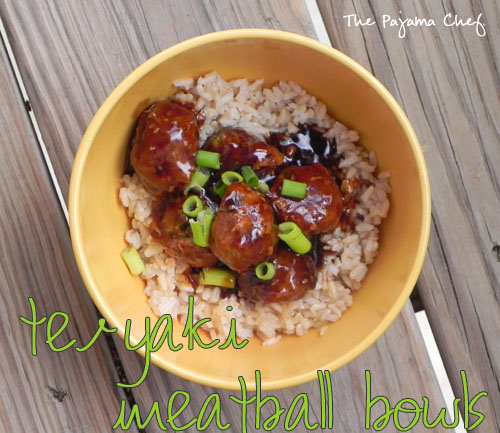 Teriyaki Meatballs | The Pajama Chef