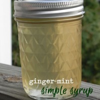 Iced Tea with Ginger-Mint Simple Syrup