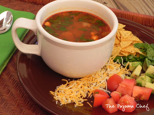 30 Minute Chicken Tortilla Soup | The Pajama Chef