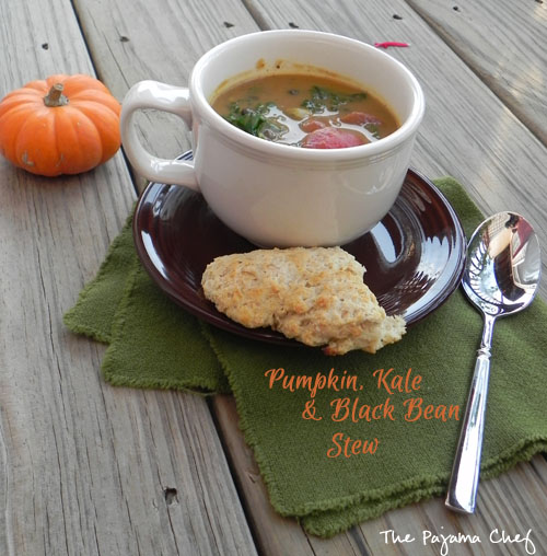 Pumpkin, Kale, & Black Bean Stew | The Pajama Chef