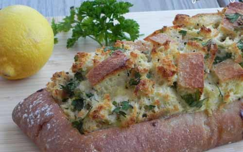 Lemon Herb Eggs in Ciabatta | The Pajama Chef