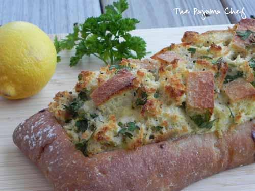 Lemon Herb Eggs in Ciabatta | The Pajama Chef