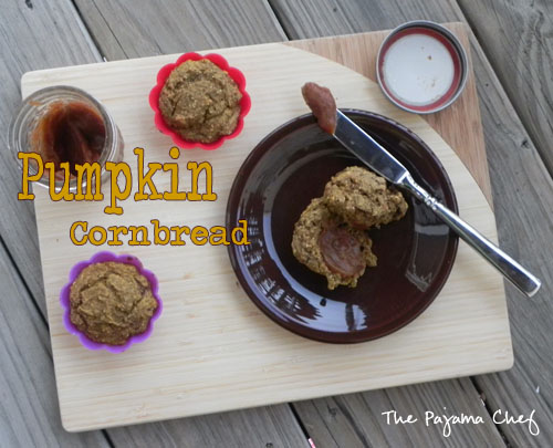 Pumpkin Cornmeal Muffins | The Pajama Chef