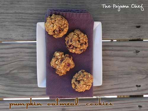 Pumpkin Oatmeal Cookies | The Pajama Chef