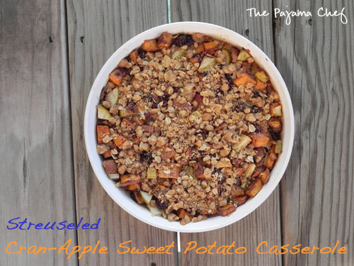 Streuseled Cran-Apple Sweet Potato Casserole