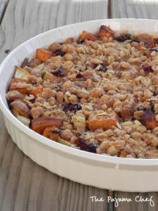 Streuseled Cran-Apple Sweet Potato Casserole   The Pajama Chef