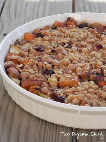 Streuseled Cran-Apple Sweet Potato Casserole | The Pajama Chef
